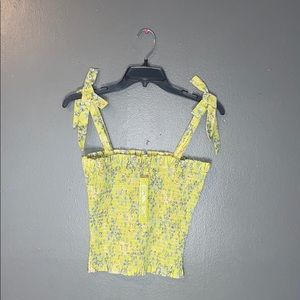 NWT Gianni bini stretchy floral crop top size s